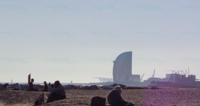 Plage de Mar Bella Barcelone