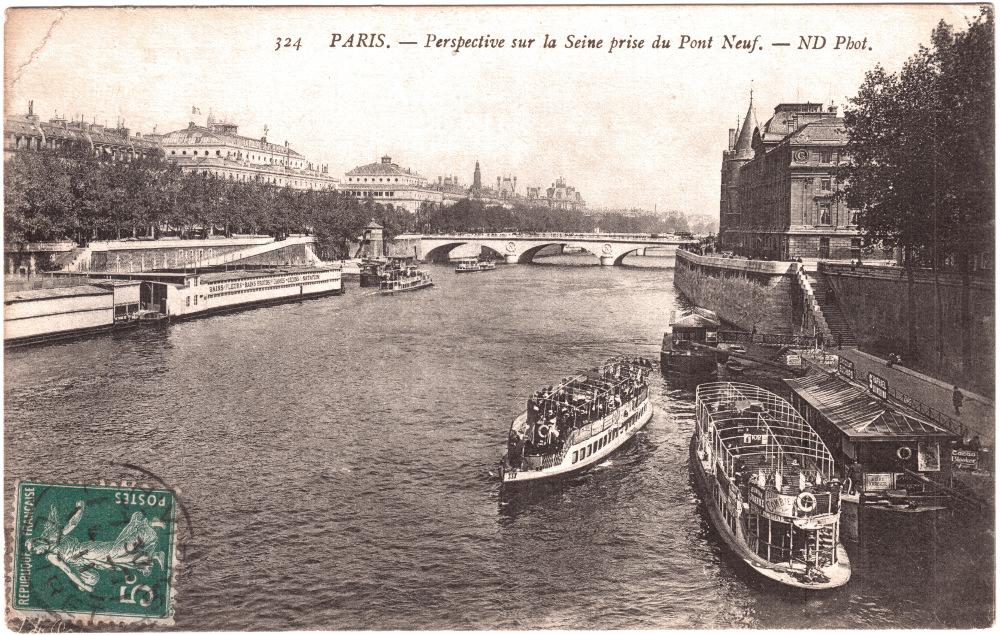 CPA Les bains fleurs, Paris