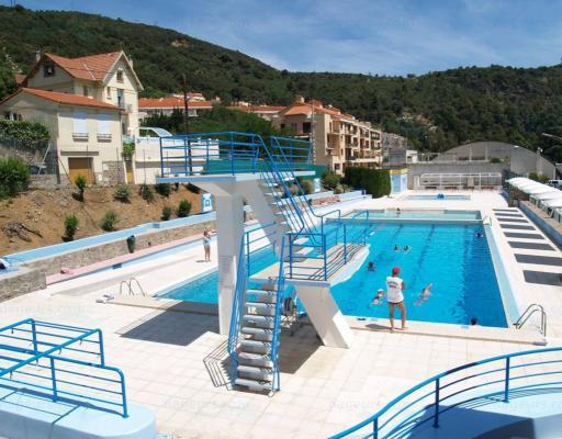 Piscine municipale d 39 am lie les bains palalda for Piscine saint martin de crau