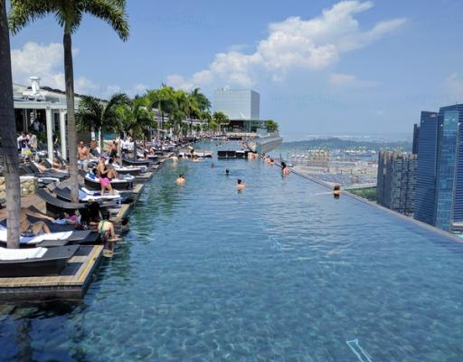 Infinity Pool at Marina Bay Sands Hotel à Singapore