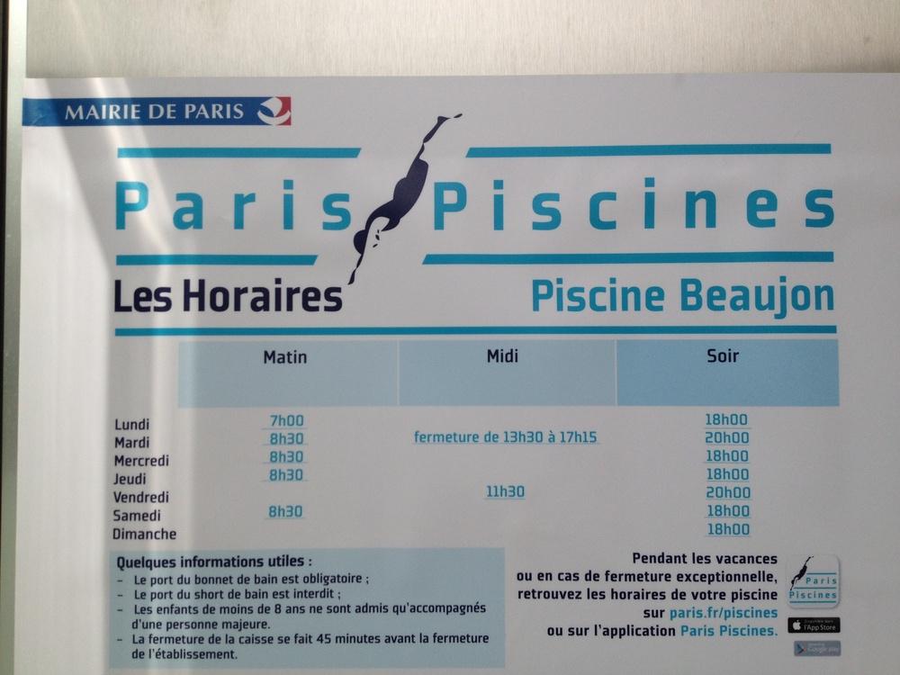 S ances jacqueline auriol ex piscine beaujon page 9 10 for Piscine beaujon