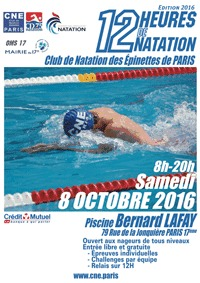 12h de natation bernard lafay samedi 8 octobre - Piscine municipale bernard lafay ...