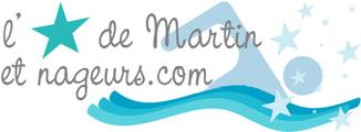 Logo fil rouge de natation